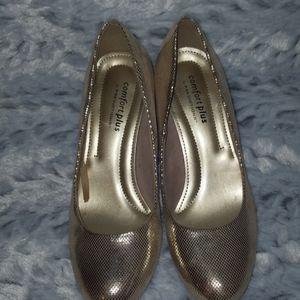 Sz 6.5 Metallic Gold Heels